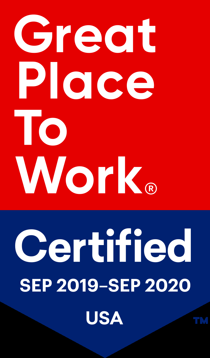 award Best Workplaces in New York, Great Place to Work 2019