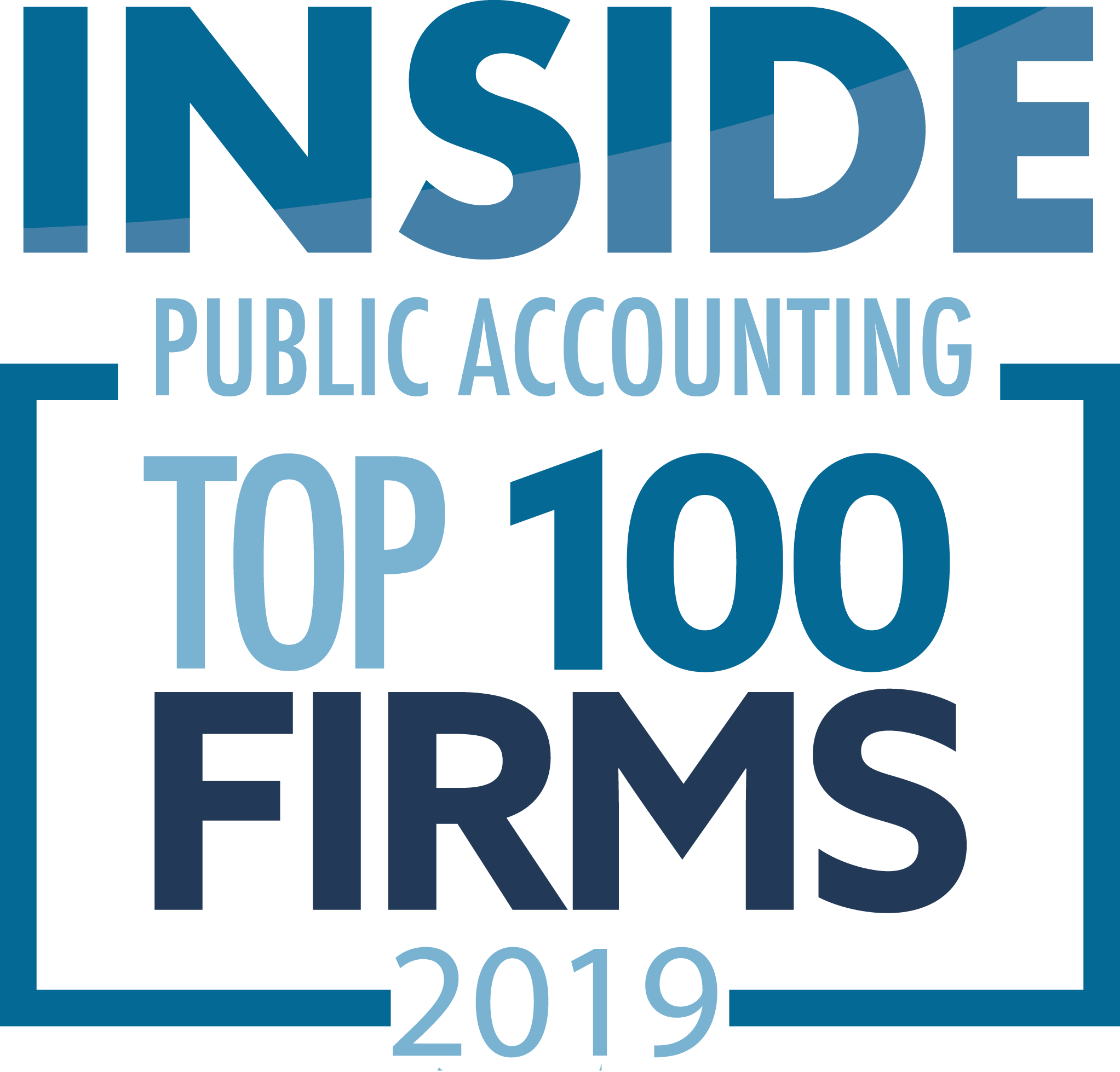 award Inside Public Accounting Top 100 Firms 2019